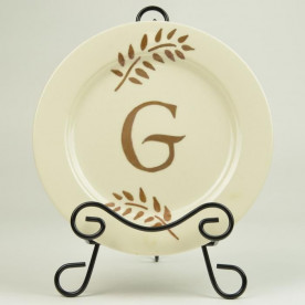 Monogrammed Plate DIY Crafting Project